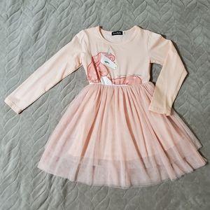 Unicorn Ballerina Tulle Toddler Dress